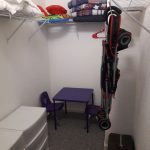 Closet with strollers and Pack-n-Play